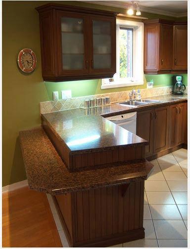 Comptoir de cuisine fabrication installation r gion - Dessus de comptoir de cuisine pas cher ...